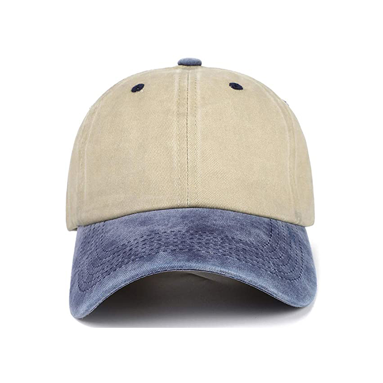 Unisex Washed Dyed Cotton Adjustable Solid Baseball Cap